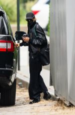 Irina Shayk Steps out in all black In New York City