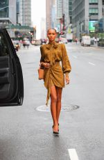 Jasmine Tookes Arrives at the Revolve Gallery in New York