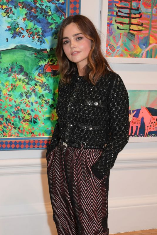 Jenna Coleman Attends the Royal Academy of Arts Summer Exhibition 2021 Preview Party in London