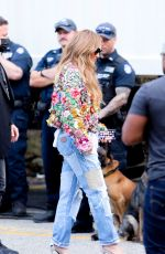 Jennifer Lopez Arrives at the 2021 Global Citizen Live Festival at the Great Lawn in Central Park