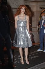 """Jessica Chastain Arrives at the """"The Eyes Of Tammy Faye"""" Premiere at SVA Theater in New York City"""