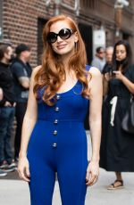 Jessica Chastain Arrives to Late Show with Stephen Colbert Show Ed Sullivan Theater, New York