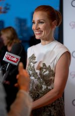 """Jessica Chastain Attends """"The Eyes Of Tammy Faye"""" Premiere during the Film Festival at Princess of Wales Theatre in Toronto, Ontario"""
