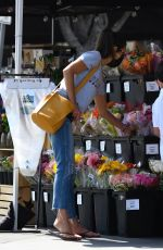 Jordana Brewster Gooes out to buy flowers in Brentwood