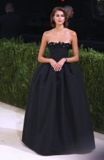 Kaia Gerber Attends The 2021 Met Gala Celebrating In America: A Lexicon Of Fashion at Metropolitan Museum of Art in New York City