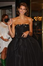 Kaia Gerber Departs from the Carlyle Hotel for the MET Gal in New York City