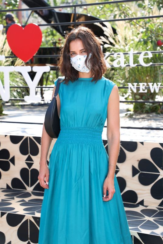 Katie Holmes At Kate Spade New York Popup Installation VIP Opening Party