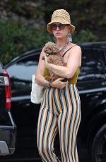 Katy Perry Takes her pooch and daughter Daisy Dove to the beach in Santa Barbara