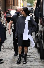 Kehlani Looks amazing as she arrives at a fashion show today in New York