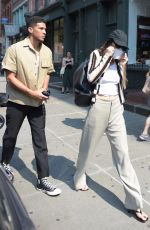 Kendall Jenner Out & about with her boyfriend and Fai Khadra in SoHo