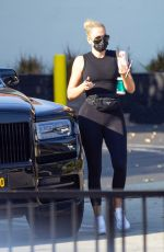 Khloe Kardashian Takes her daughter True to dance class in Los Angeles