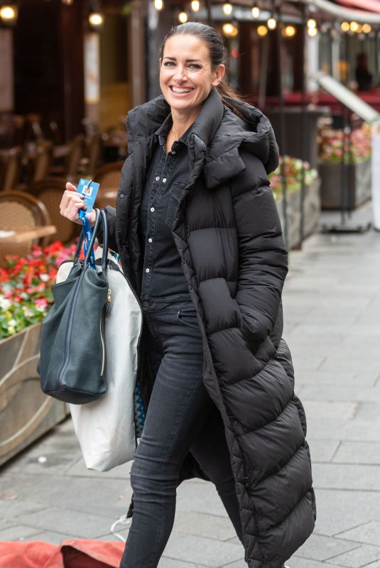 Kirsty Gallacher Seen arriving at Global Studios in London