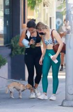 Kristen Bell & a friend work up a sweat after an early morning Pilates session in Los Feliz