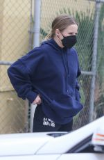 Kristen Bell Gets cozy in an oversized hoodie and sweatpants for an afternoon outing in Los Angeles