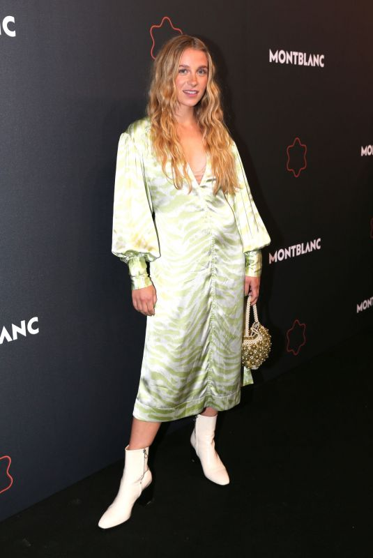 Lena Klenk Attends the Montblanc UltraBlack launch event at Feuerle Collection in Berlin, Germany
