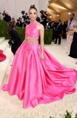 Leslie Grace Attends The 2021 Met Gala Celebrating In America: A Lexicon Of Fashion at Metropolitan Museum of Art in New York