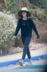 Lisa Rinna Gets some exercise done as she goes for a power walk at TreePeople Park in Beverly Hills