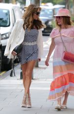 Lizzie Cundy With her friend for I.V Antioxidant nutrient treatment to keep her healthy in London