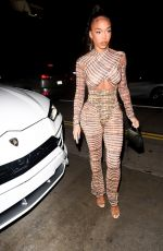 Lori Harvey Puts her curves on display while grabbing a late dinner at Catch LA in West Hollywood