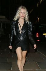 Lottie Moss Leaving The GQ Men Of The Year Awards After Party held at The Tate Modern in London