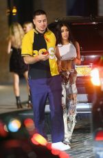 Lourdes Leon Holds hands with a man as she leaves Rihanna