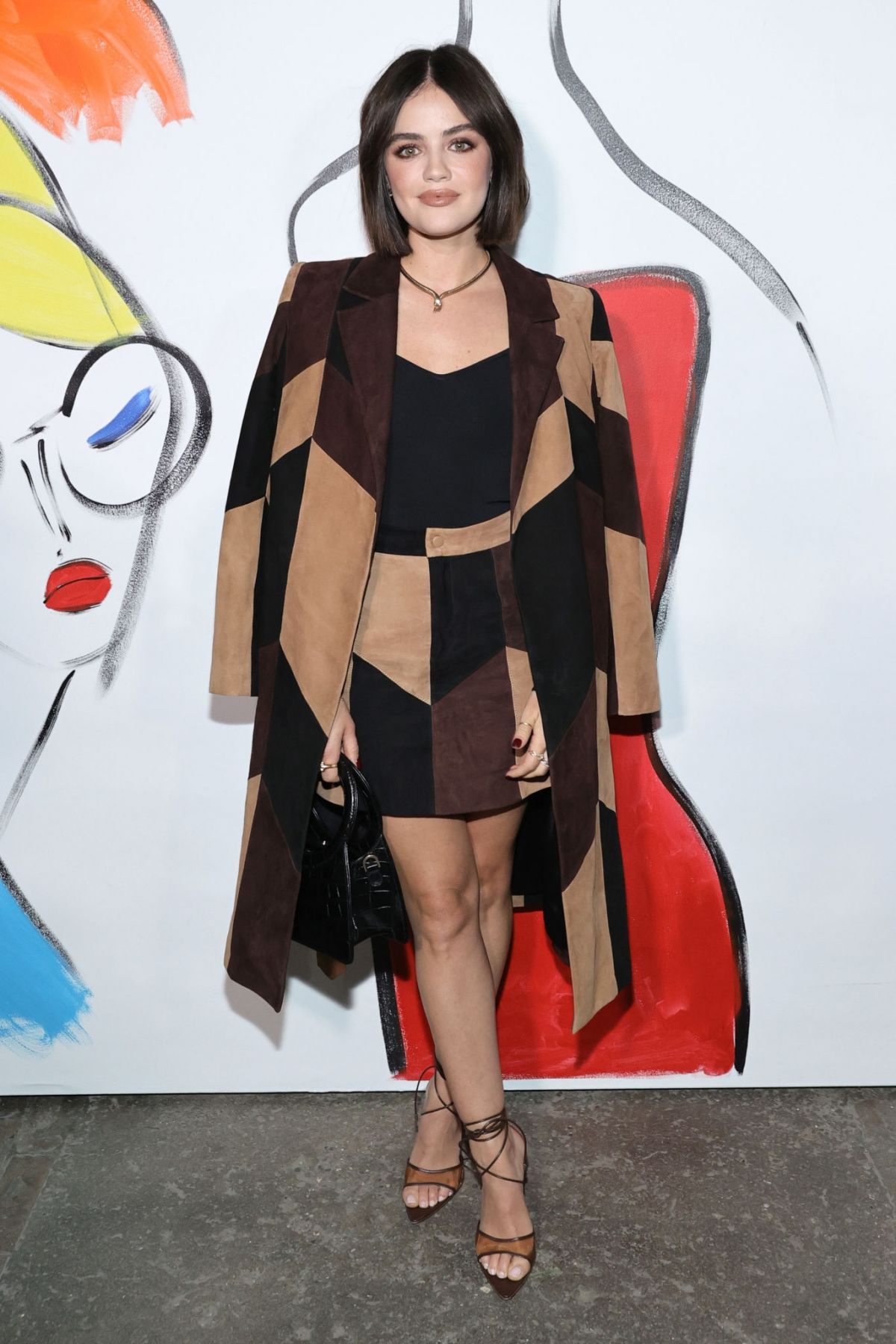 Lucy Hale Attends the alice + olivia show by Stacey Bendet