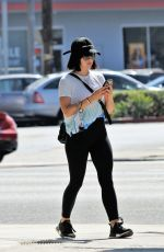 Lucy Hale Heads out for an iced coffee in Los Angeles