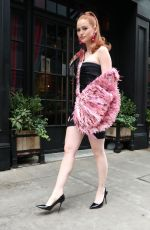 Madelaine Petsch At Moschino fashion show in New York
