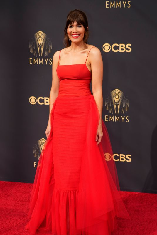 Mandy Moore At 73rd Primetime Emmy Awards at L.A. Live in Los Angeles