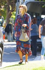 Mandy Moore Dons colorful maxi dress for