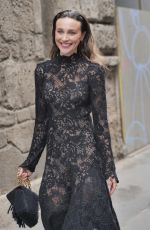 Mary Leest Seen at the Ermanno Scervino fashion show during Milan Fashion Week Women