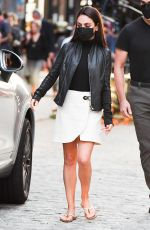 """Mila Kunis Drives a car in a scene for """"Luckiest Girl Alive"""" in New York"""