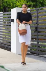 Olivia Culpo Runs errands in West Hollywood in chic monochrome outfit