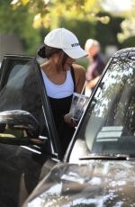 Olivia Culpo Shows off her natural beauty as she exits her Friday pilates practices in West Hollywood