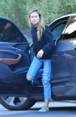 Olivia Wilde Makes a stop at a Studio in West Hollywood