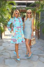Paris and Nicky Hilton arrive at Tulum-inspired modern Mexican Kitchen, Gitano, in New York City