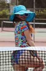 Phoebe Price Gets cheeky during raunchy shoot at a tennis court in Los Angeles