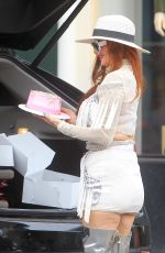 Phoebe Price Steps out to get a Birthday Cake and Cookies on her 49th Birthday