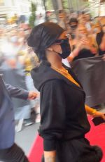 Rihanna Arrives at Hotel Carlyle in New York ahead of MET gala