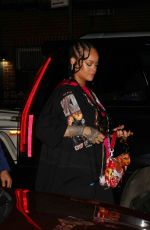 Rihanna Spotted out for dinner at Carbone with other Celebs in New York