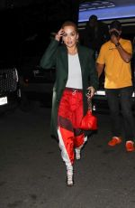 Rita Ora Returns to her hotel after a night out in New York City