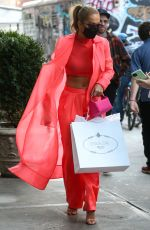 Rita Ora Returns to her hotel after a shopping trip to Prada in New York