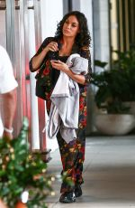 Rosario Dawson Wraps up a busy day of filming in Miami