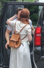 Rose Leslie And Kit Harington kiss before going their separate ways in New York