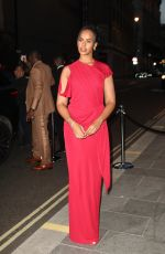Sabrina Elba Seen at British Vogue and Tiffany & Co celebrate Fashion and Film at the Londoner Hotel in Leicester Square