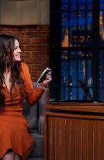 Selena Gomez At Late Night with Seth Meyers in NYC