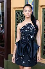 Shanina Shaik Attends the 2021 Couture Council Luncheon Honoring Wes Gordon at Cipriani South Street in New York City