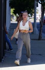 Sharna Burgess At the Dancing With The Stars rehearsal studio in Los Angeles