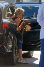 Sharon Stone Spotted wearing an animal print face mask while out in Zurich, Switzerland