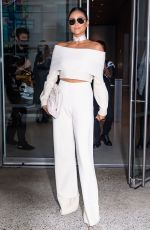 Shay Mitchell Leaving the Altuzarra Spring 2022 Ready-to-Wear fashion show in New York City